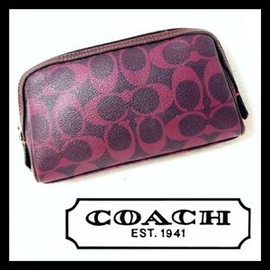 Coach Signature Purple Pink Cosmetic Case Bag